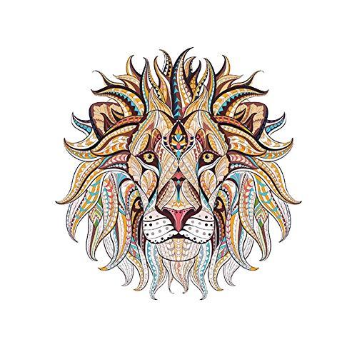 Funnyfeng leeuwenkop in nationale stijl, sticker, decoratief, voor het strijken van huishoudens
