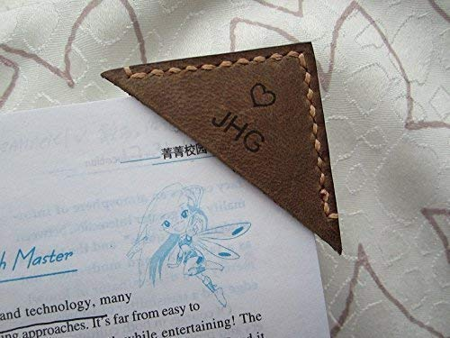 Personalized Leather Bookmark Corner,Engraved Bookmark,Distressed Leather Gift,Leather Bookmark,Custom Bookmark,Book Lover