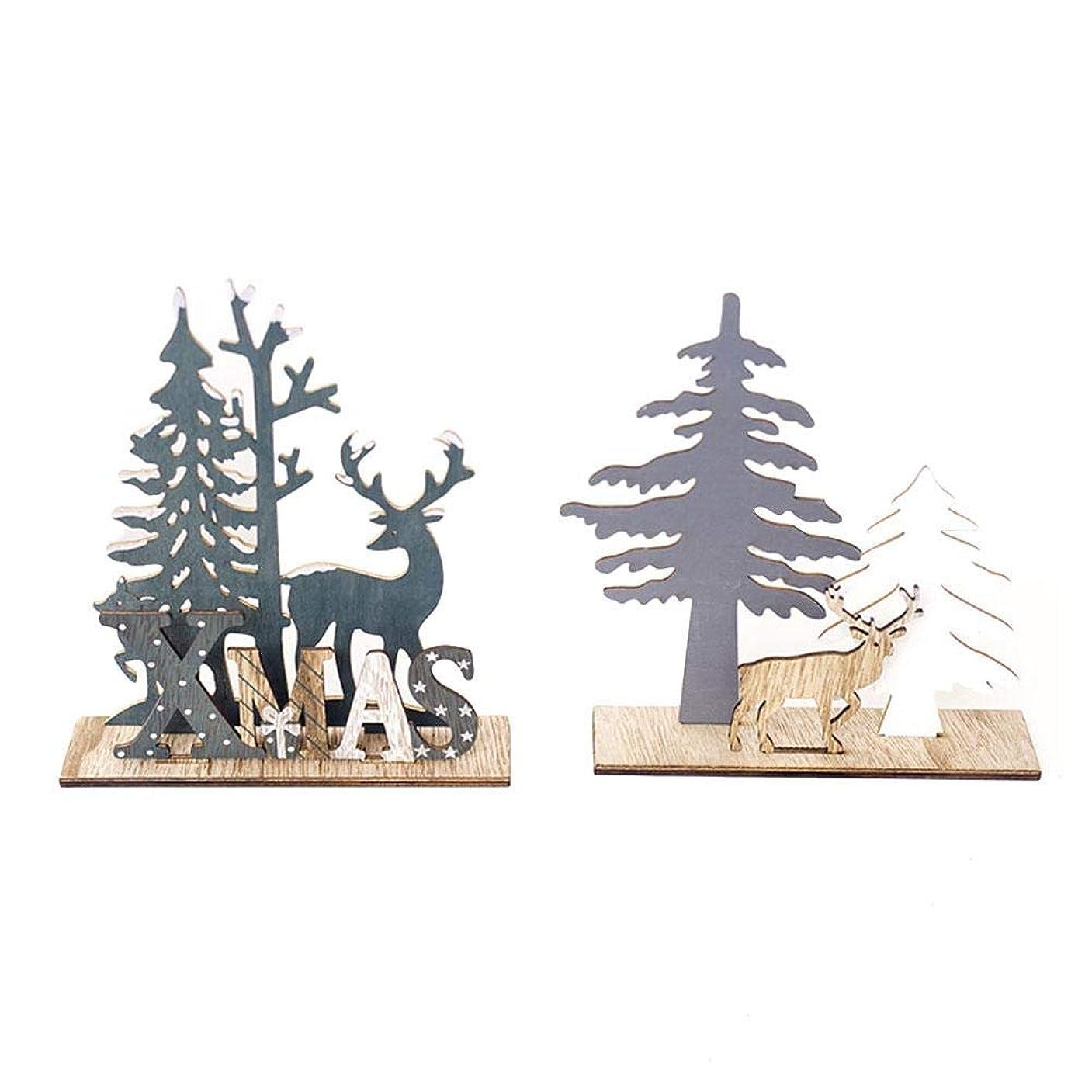 構成員礼拝成功した最新型 クリスマス飾り クリスマスツリー 飾り 卓上 木製 可愛い 誕生日 結婚式 パーティー装飾 インテリア 雰囲気満載
