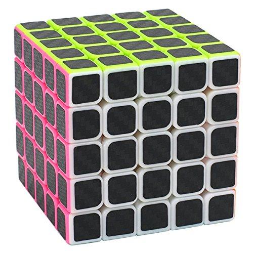 Coolzon Puzzle Cube 5x5x5 Cubo Magico con Pegatina de Fibra de Carbono Velocidad