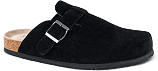 Unisex Boston Soft Footbed Clog,Suede Leather Clogs, Cork Clogs Shoes for Women Men,Antislip Sole Slippers Mules