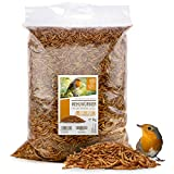 Coeur d'animal Sauvage | 6,5 litres = 1 kg, vers de Farine séchés pour Oiseaux et hérissons I vers de Farine Toute l'année I Farine, vers de Farine
