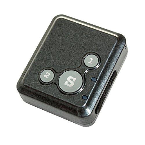 MagiDeal Mini Traceurs GPS pour Enfant Vieillard GSM/LBS Portable-Sécurité Kits - Noir