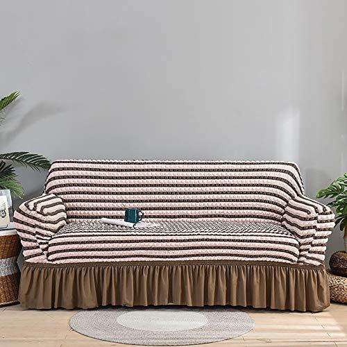 Funda de sofá impermeable premium para sofá de alta elasticidad para sofá de 1/2/3/4 asiento sofá super suave tela cubierta de sofá para perros mascotas cubierta de muebles A, 2 plazas