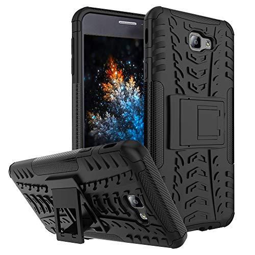 MRSTER Samsung J7 Prime Hülle, Outdoor Hard Cover Heavy Duty Dual Layer Armor Hülle Stoßfest Schutzhülle mit Ständer Handyhülle für Samsung Galaxy J7 Prime / On7 (2016). Hyun Black