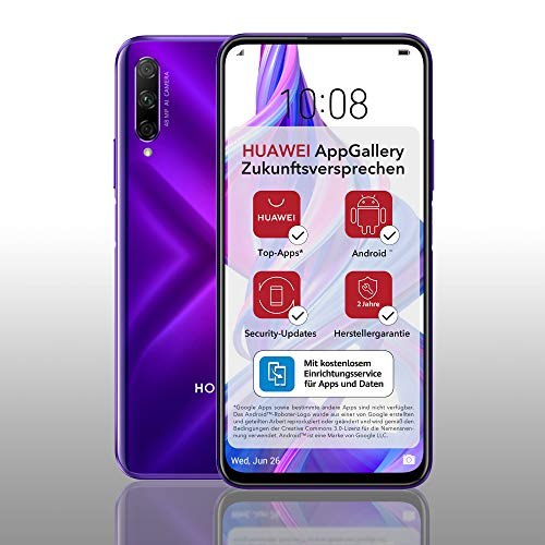 HONOR 9X PRO Dual-SIM Smartphone - Phantom Purple (6,59 Zoll Display, 256 + 6GB, Android 9.0 AOSP ohne Google Play Store, EMUI 9.1) + 48MP Triple-Kamera + 16MP Frontkamera – Deutsche Version