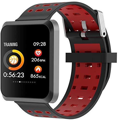JIAJBG Rastreador de fitness inteligente reloj de fitness pulsera inteligente, Nb-212 impermeable deportes fitness tracaker pulsera inteligente deporte fitness Tracker exquisito/rojo