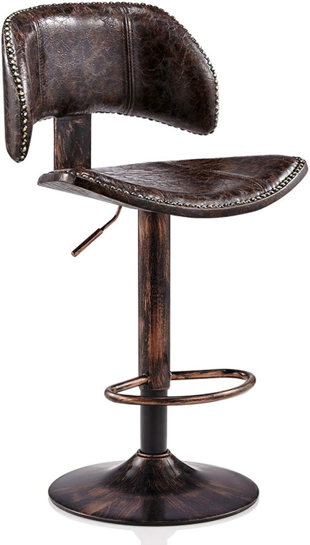 Jiu Si- Bar Chair Lift redating High Stool Back Stool Bar Hairdressing Beauty Chair Beauty Stool Leisure Stool bar Chair