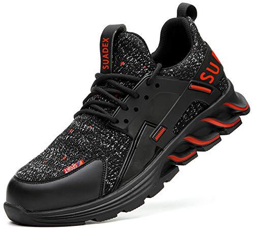 [SUADEX] 安全 靴 安全 作業 靴 作業 おしゃれ あんぜん靴 スニ一カ一 �K 工事現場 靴 鋼先芯 耐摩耗 防刺 耐滑ソール アウトドア スニーカー ワーク シューズ セーフティーシューズ