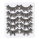 3D False Eyelashes Dramatic Long Lashes 18mm Fluffy Fake Eyelash,Handmade Soft Lash Strip Extensions,5 pairs