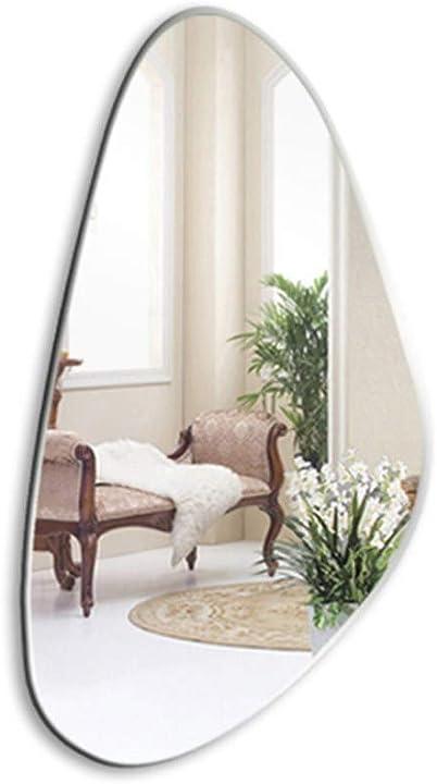 Specchio da parete, contemporaneo senza telaio pannello in vetro flottante con retro argentato - gxfc QINXUE SHOP