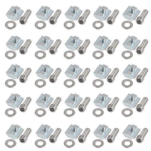 50X EypiNS Nutensteine M8, Nutsteine T-Schiene Gleitmuttern T-Nutmuttern Kohlenstoffstahl Aluprofil Steckverbindersatz der Serie 4040 M8 Für Aluminiumprofile Systemprofil Profil, Europäischer Standard