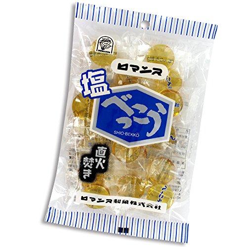 ロマンス製菓 塩べっこう飴 120g(個包装) ×【20袋】