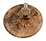 Bourbon Barrel Head - Authentic Distillery Stamped - Used to Age Spirits and Upcycled by WhiskeyMade - Beautiful Home Decoration - Made in the USA (Lazy Susan)