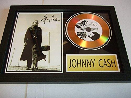 Johnny Cash signierte Goldscheibe