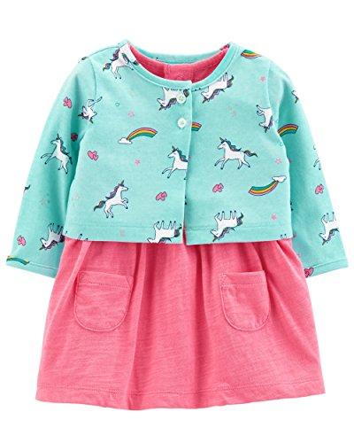 Carter's Bodykleidchen Kleid mit Bolero Babykleid mit Jacke Sommer Set Kombitation Outfit süß Bodykleid Kleid (56/62, rosa)