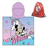 Toalla Infantil con Capucha de niño y niña Licencia Oficial Disney Minnie 8131