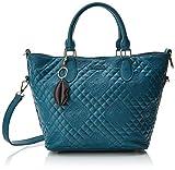 Desigual - Bols_claudia Florida, Bolso Mujer, Azul (Petroleo), 16.5x25.8x26.2 cm (B x H T)