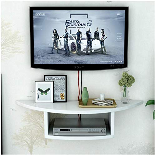 Media Montaje Media Consola COMPONENTE DE TV Floating Estante de componentes, Centro de Entretenimiento Flotante MDF para Cajas de Cable/enrutadores de WiFi/Remotes/Reproductores de DVD