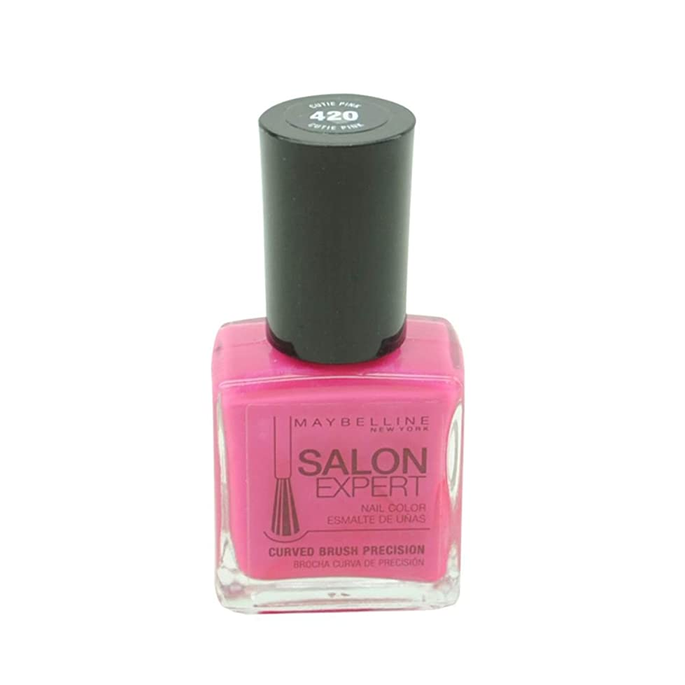称賛折るトーストMAYBELLINE SALON EXPERT NAIL COLOR #420 CUTIE PINK