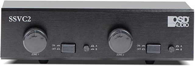 OSD Audio 2-Zone Speaker Selector - 300W Dual Source with Volume Control - SSVC2