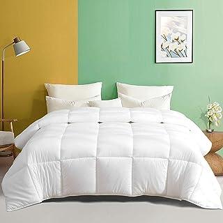 Sponsored Ad - TOPGREEN All-Season Down Alternative Comforter -Fluffy Queen 100% Cotton Fabric & Ultra-Soft Cloud Breathab...