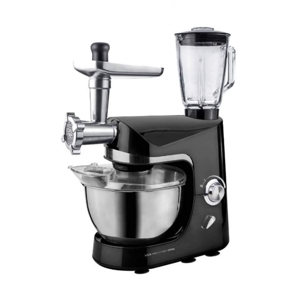 Robot de cocina amasadora planetaria picadora 3 en 1 Batidora Mixer multifunción 5 L 1800 W: Amazon.es: Hogar