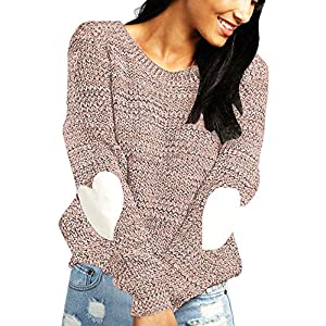 Women's  Casual Long Sleeve Round Neck Knits Sweater Pullover