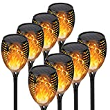 【Upgraded 8Pack Torches】Solar Lights Outdoor, 33LED Solar Torch Lights with Dancing Flickering Flames, Waterproof Landscape Decoration Flame Lights for Garden Pathway Yard-Auto On/Off Dusk to Dawn