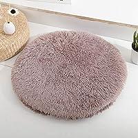 JF-XUAN ドッグフード ペット猫の犬の巣のデュアルの使用ペット滑り止め通気性猫の家犬眠っている洗えるマットの毛布 (Color : Style2 Brown, Size : M)