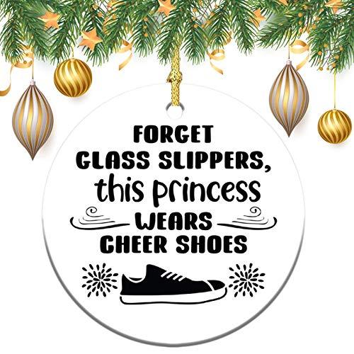 None-brands Monogram Ornament Wreath Ornament Xmas Tree Ornament Custom 2020 Ornament Forget Glass Slippers This Princess Black Ornament,Christams Xmas Gift,Christmasation,Round Keepsake