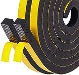 Fowong High Density Foam Tape 12mm(W) x 12mm(T) x 2M(L) Home Window Insulation