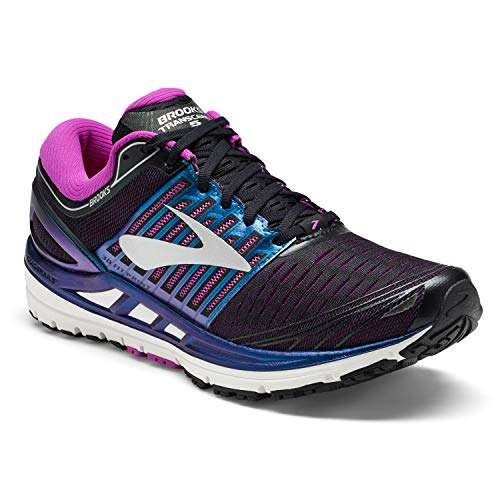 Brooks Transcend 5, Zapatillas de Running para Mujer, Multicolor (Black/Purple/Multi 023), 38.5 EU