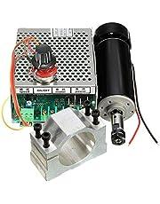 RFElettronica - Spindelmotor ER11 CNC 500 W met tang 52 mm met voeding en toerentalregelaar, frees voor gravure.
