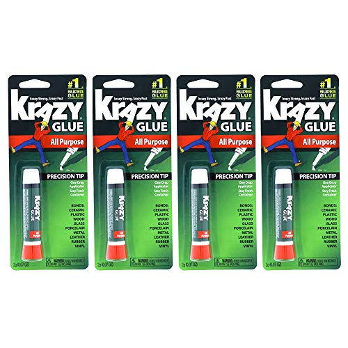 Krazy Glue Original Adhesive  Super Glue  Precision Tip  MultiPurpose One Drop Applicator 4