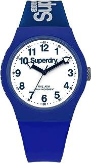 ساعة كوارتز رسمية سوبر دراي 'اوربان' من البلاستيك والسيليكون، اللون: ازرق (الموديل: SYG164U)