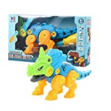 Taktik Take Apart Dinosaur Toys Dino Building Toy with Tools for Kids DIY Construction Play Kit STEM Educational Gift for Boys and Girls(Centrosaurus)