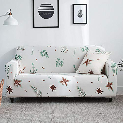 Cubierta para sofá con Cuerda de fijación,Funda de sofá elástica estampada, funda de cojín universal para todas las estaciones con todo incluido, funda de protección para la carcasa de los muebles-Co
