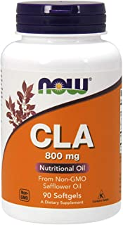 NOW Supplements, CLA (Conjugated Linoleic Acid) 800 mg, Nutritional Oil, 90 Softgels