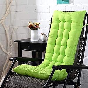 LYXMY - Cojín para tumbona de patio, acolchado grueso para tumbona reclinable con cojín de tatami, para interior y exterior, No nulo, Verde hierba, Tamaño libre