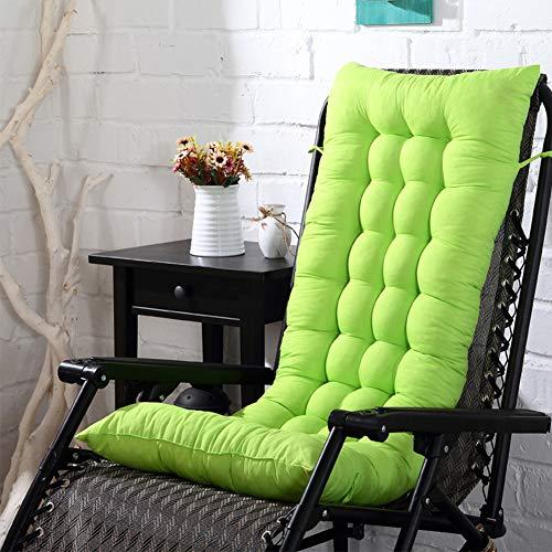 YUOKI99 Cuscini per Sdraio da Giardino, Cuscino Prendisole Cuscino per Esterno da Giardino Cuscino per sedie a Sdraio Cuscino Imbottito per Sedia reclinabile con Cinghie(Grass Green)