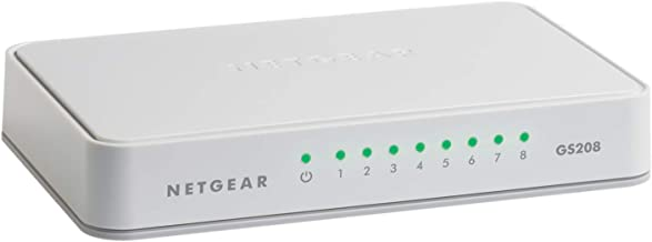 NETGEAR 8-Port Gigabit Ethernet Unmanaged Switch, Desktop, Internet Splitter, Fanless,..