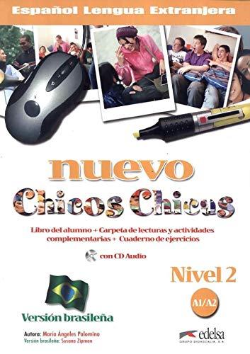 Nuevo chicos chicas 2 - A1/A2 - Libro del al.+ ej. + CD - version brasilena