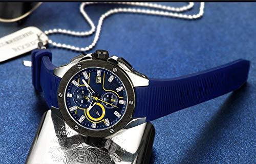 Voigoo Mode-Mann-Sport-Chronograph-wasserdicht Silikon-Quarz-Military Herrenuhr Uhr Male Relogio Masculino