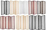Legacy Decor 3,4,5,6,8 &10 Panels Room Divider Privacy Screen Panel Japanese Oriental Shoji Black Color