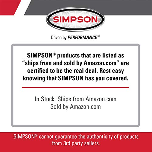 Simpson Cleaning CM61083 3400 PSI at 2.5 GPM Clean Machine Cold Water Residential Gas Pressure Washer, Natural