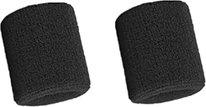 Mcolics 3' Inch Wrist Sweatband in 11 Athletic Cotton Armbands (1 Pair)