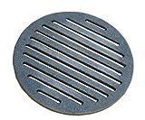 Home&Wood - Rejilla de carbón para chimenea, redonda, rejilla de cocina, horno de hierro fundido, 25 cm, 250 mm