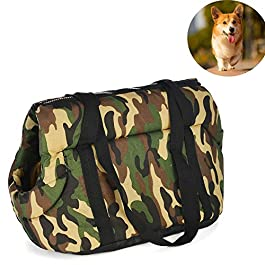 YUIOLIL Dog Backpack Breathable Pet Bags,pet Carrier Portable Breathable Handbag,Retro Pattern Designed for Travel, Hiking and Outdoor Use