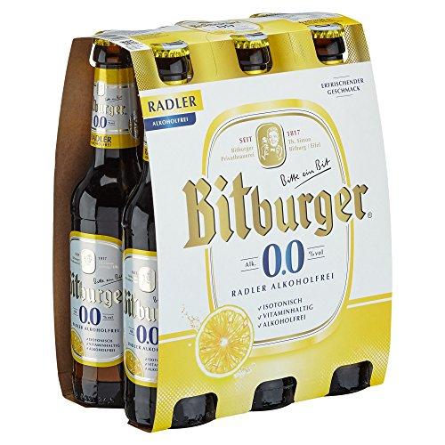 Bitburger 0.0% Radler Alkoholfrei Mehrweg (6 x 0.33 l)